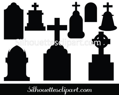 Grave clipart silhouette Best and images on about