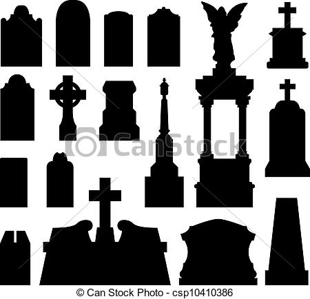 Grave clipart silhouette And  silhouette csp10410386 Vector