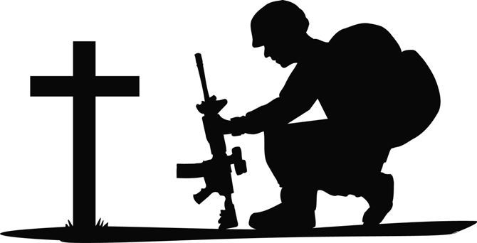 Military clipart shadow Download Soldier Cross Art Clipart
