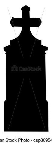 Grave clipart silhouette 01 big big Stock Silhouette