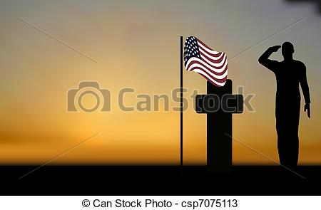 Grave clipart soldier Clip sunset Silhouette army of