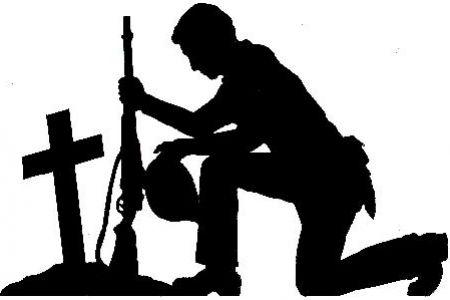 Grave clipart soldier UK Soldier art praying clip