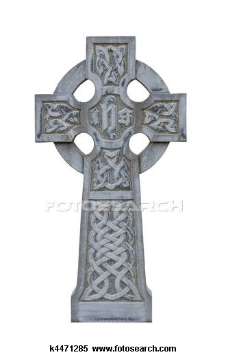 Grave clipart tombstone cross  of isolated Stock Stock