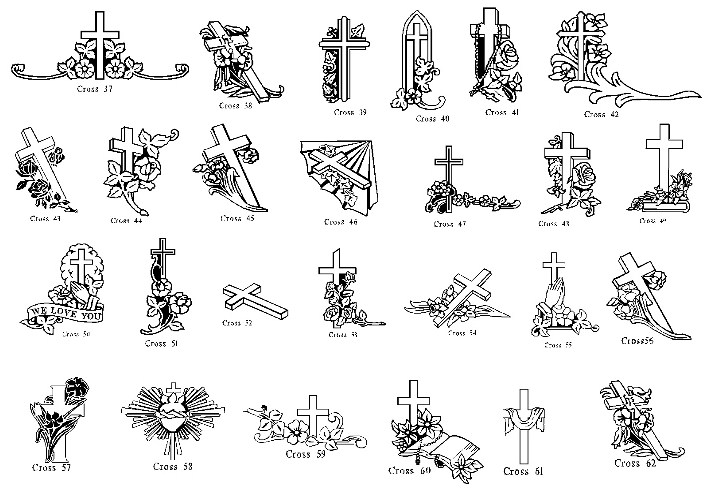 Cross Headstones American Clipart Cross