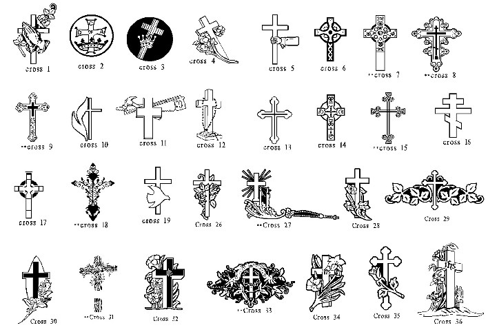 Grave clipart tombstone cross Headstones Cross Complex Design **