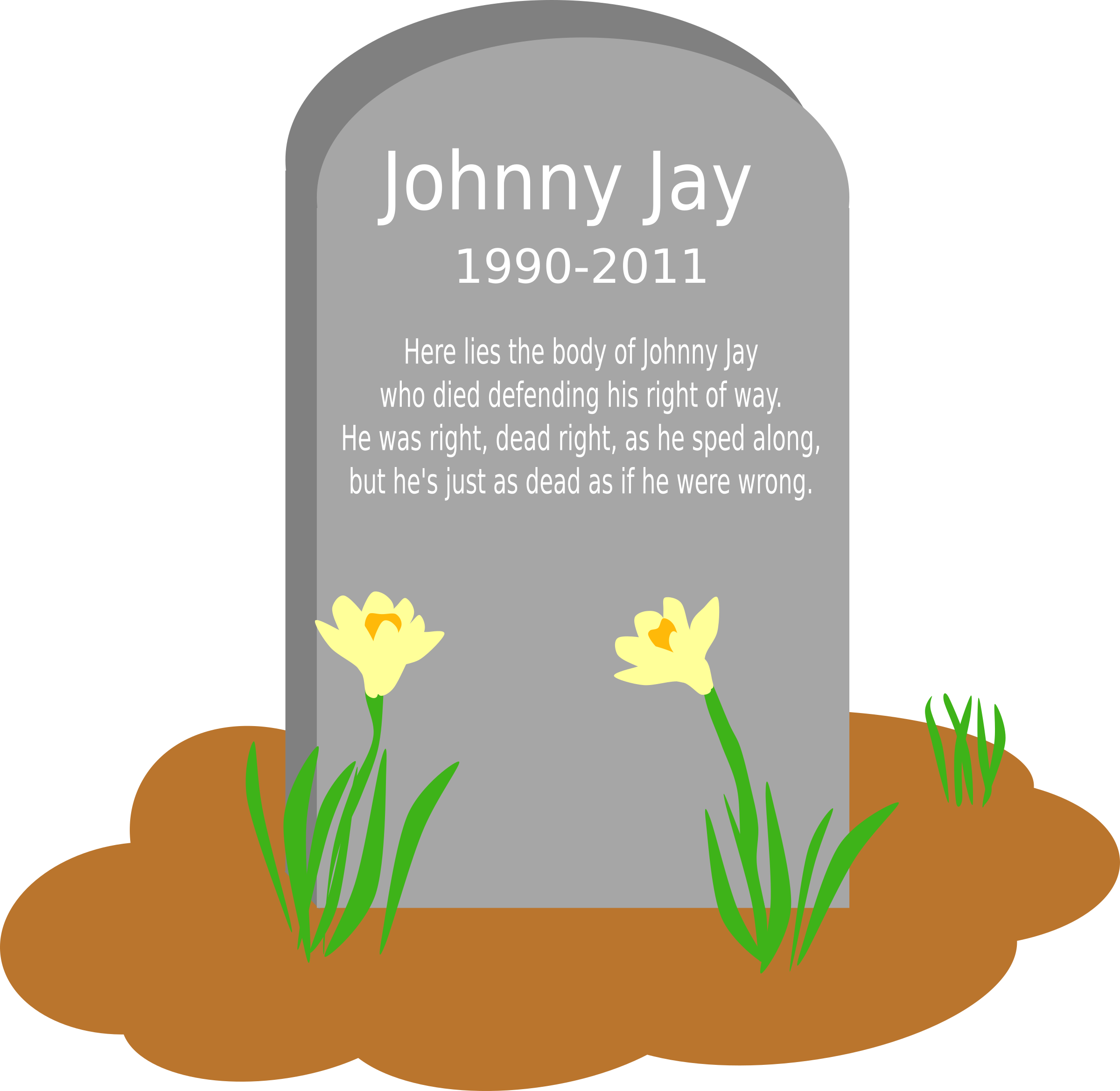 Grave clipart transparent Jay The Johnny grave of