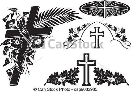 Grave clipart vector Decoration Vector Clipart a grave