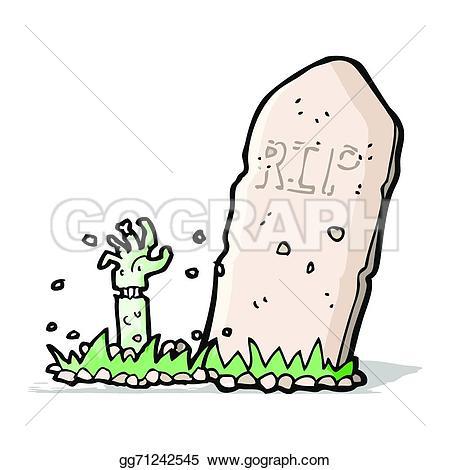 Grave clipart zombie  Clipart Cartoon Vector zombie