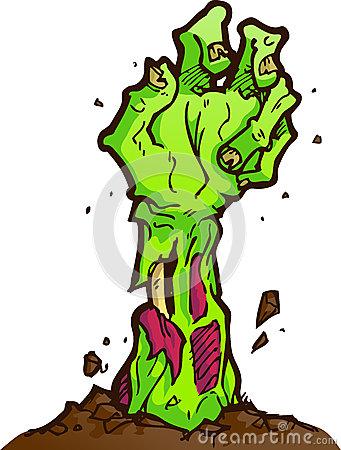 Grave clipart zombie Art Zombie Art Clip Hand