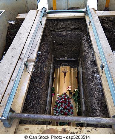 Coffin clipart grave Grave  an csp5203514 Coffin