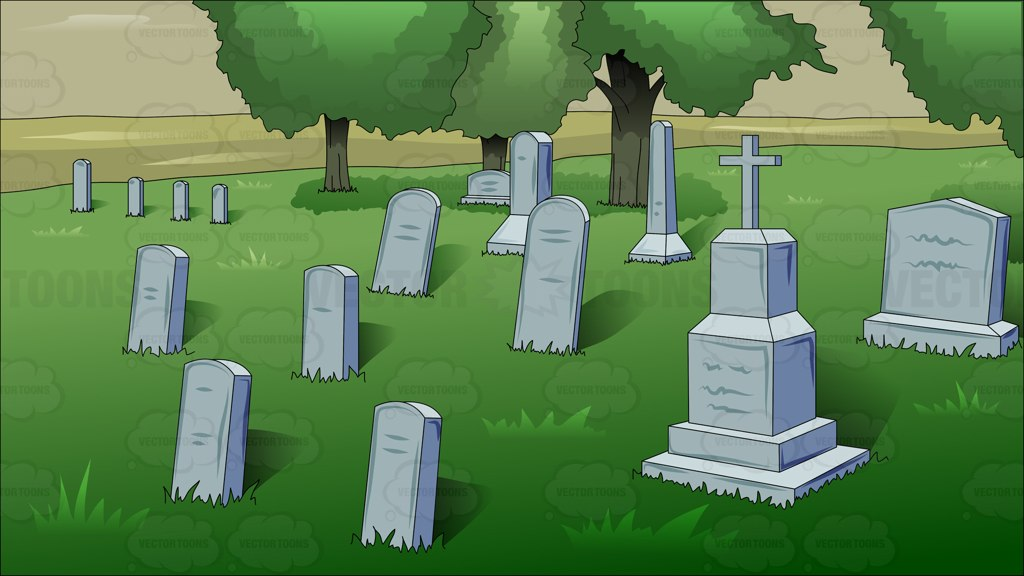 Cemetery clipart grave The Cartoon Clipart  Afternoon