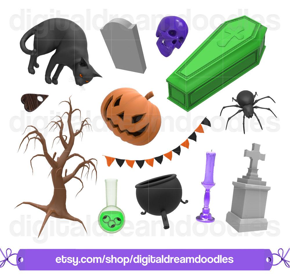 Coffin clipart graveyard Witch  a Clip Black