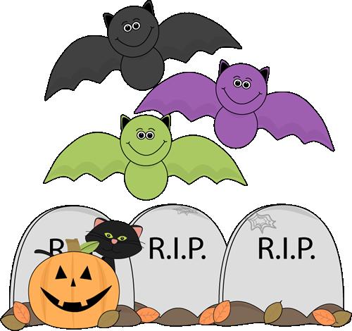 Bat clipart halloween scene Halloween Graveyard Halloween Halloween Images