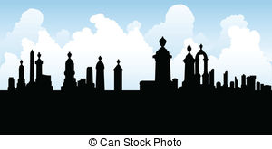 Cemetery clipart silhouette Free spooky Illustrations Art and