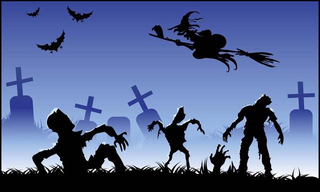 Zombie clipart graveyard #1