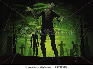 Zombie clipart graveyard #3
