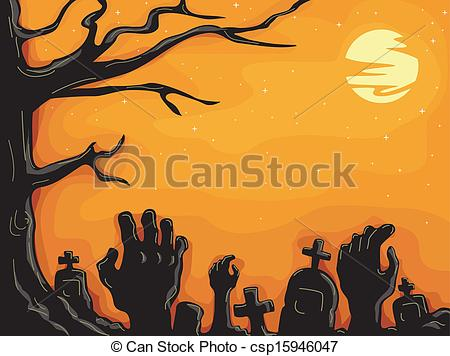 Zombie clipart graveyard Illustration Zombies Vector Graveyard