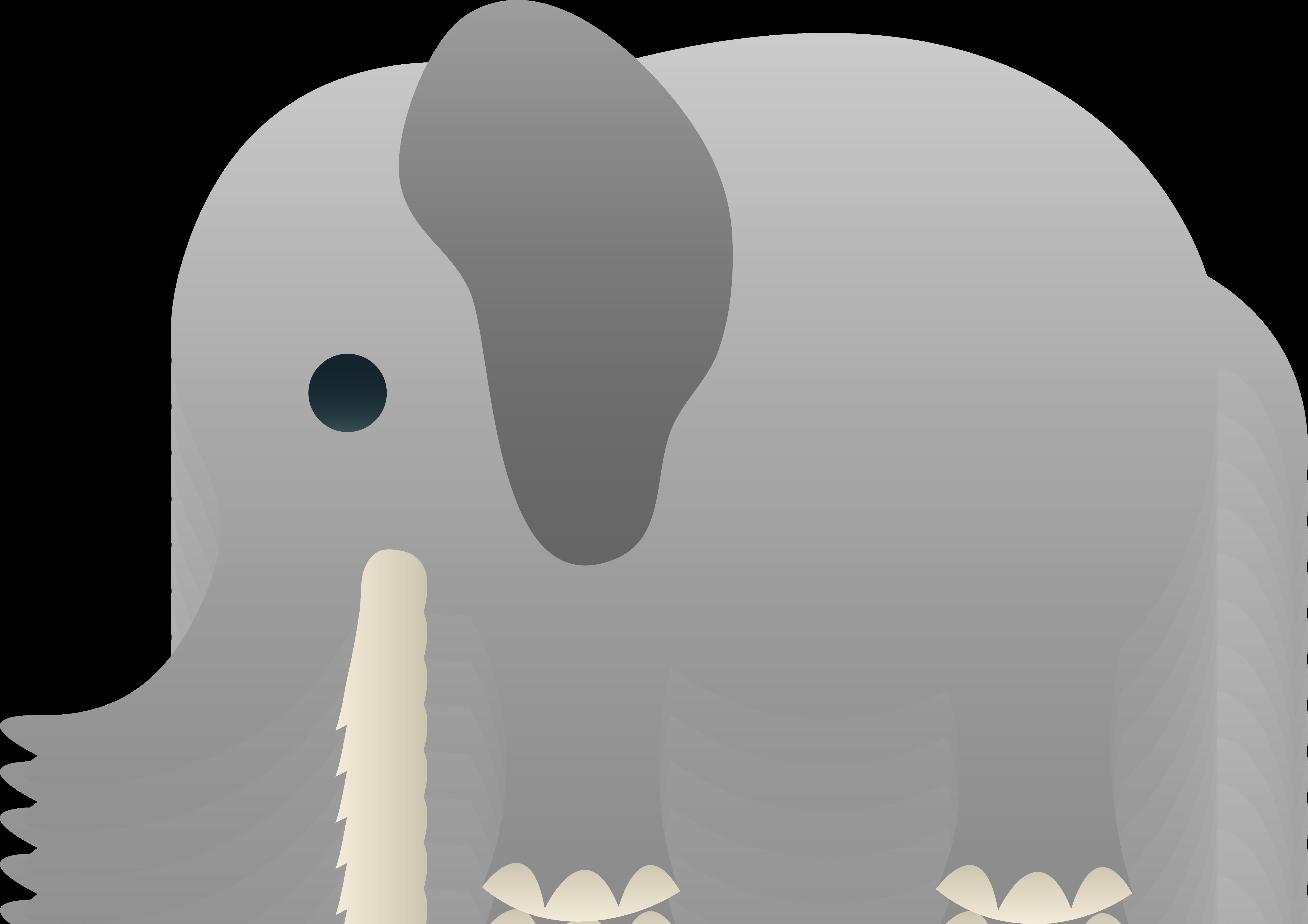 Grey clipart Gray elephant Free Free Clip