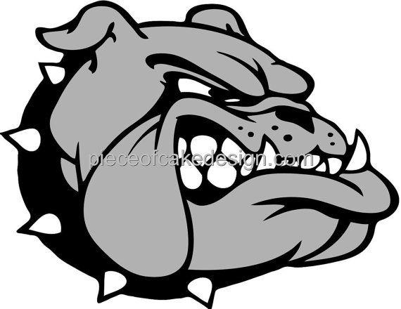 Grey clipart bulldog #5