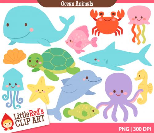 Animal clipart ocean Images Clipart Art Pix Ocean