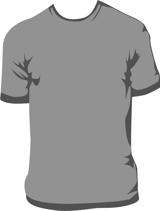 Shirt clipart vector t Men  t and Gray