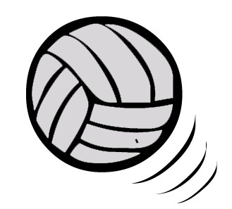 Black clipart volleyball Free And Panda Clipart Volleyball