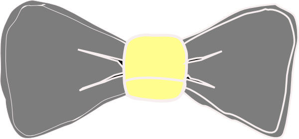 Yellow clipart bowtie As: Yellow vector at this