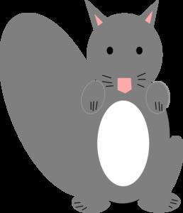 Gray Squirrel clipart Clip Dark com clip