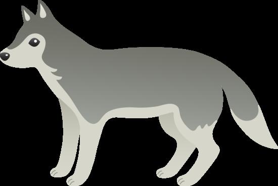 Gray Wolf clipart Art · wolf Gray art