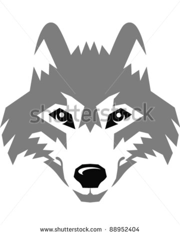 White Wolf clipart stencil art Etc graphic Wolf vector siluets