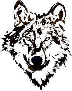 White Wolf clipart monochromatic Logo Decal Clipart Images T