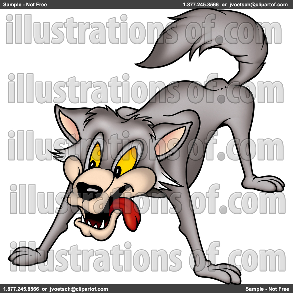 Wolf clipart hungry wolf Art Gray Wolf Art Clip