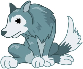 Wolf clipart teal Wolf Gray Wolf Gray clipart