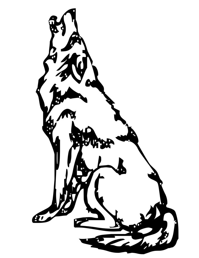 Wolf clipart drawn Free Wolf Premium Printable Template