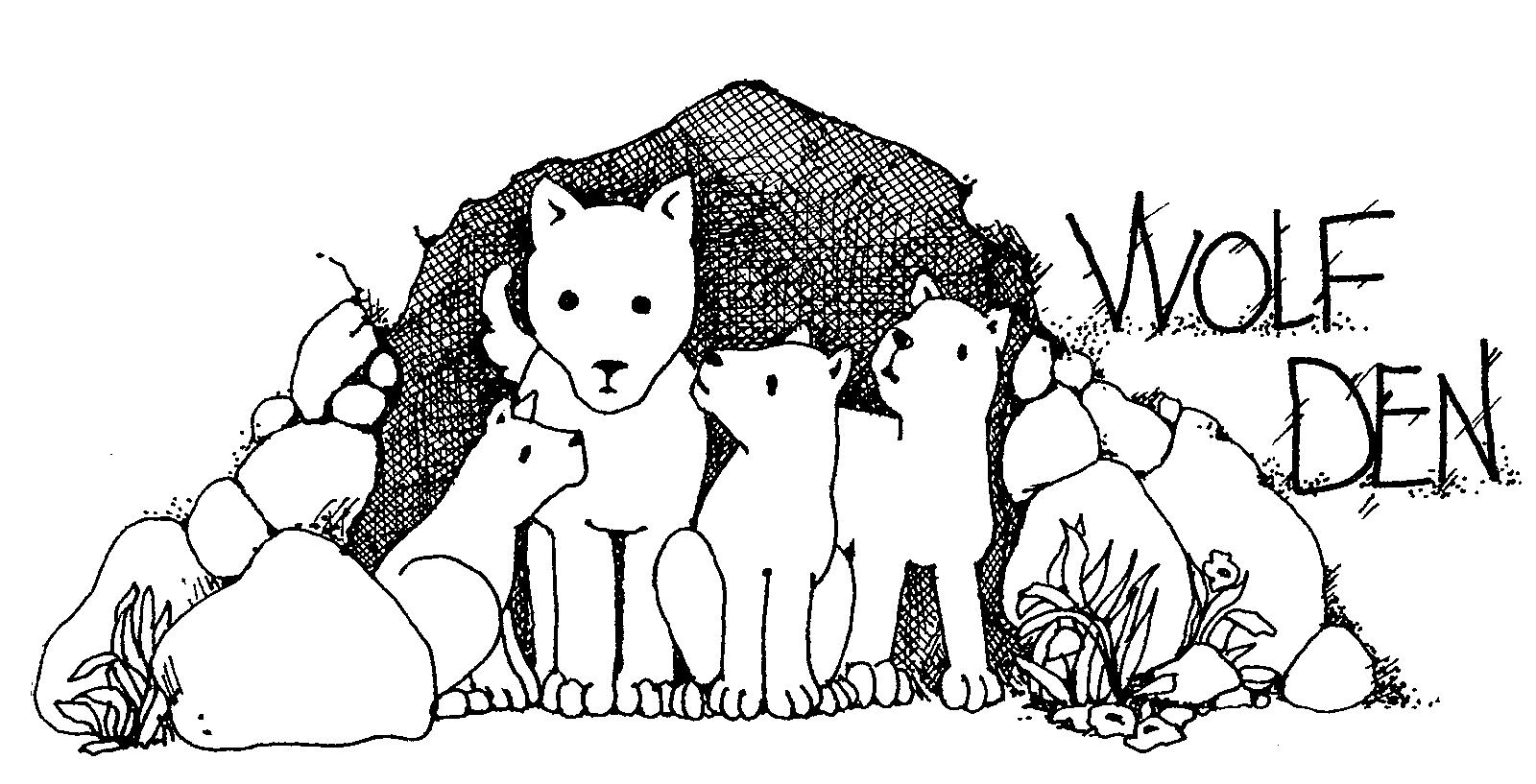 Wolf clipart drawn Den 1600x817 Resolution Wolf