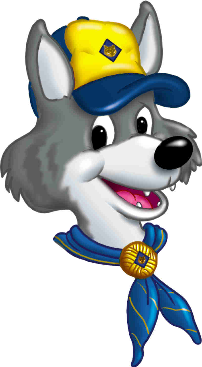 White Wolf clipart cub scout Clip scout art Scouts wolf