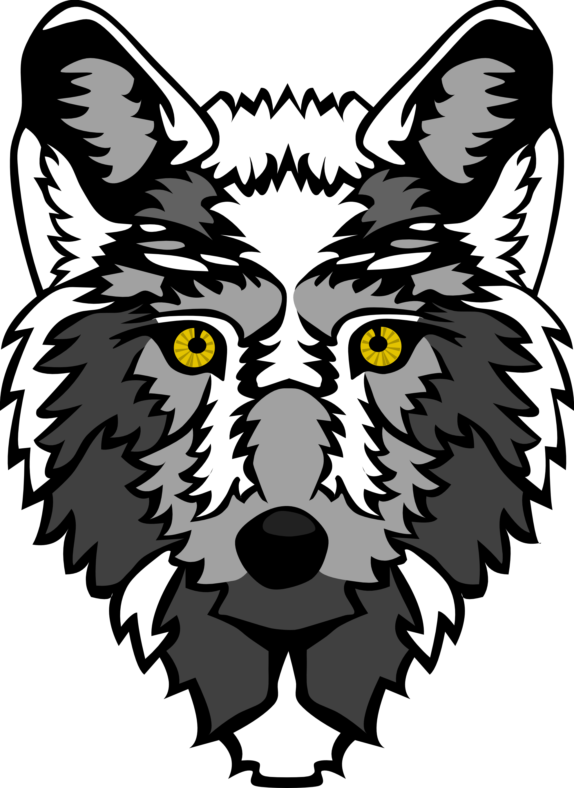 White Wolf clipart wolf head On Art Clip  Free