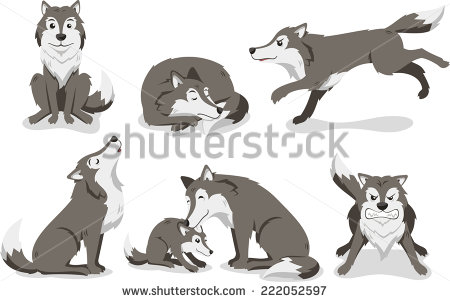 White Wolf clipart angry Clip gray art gray Wolf