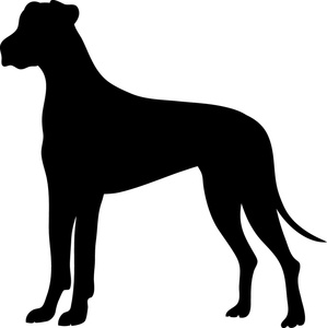 Great Dane clipart Detail for Clipart Dane silhouette