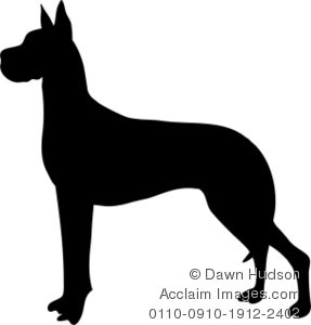 Great Dane clipart Illustration a a of of