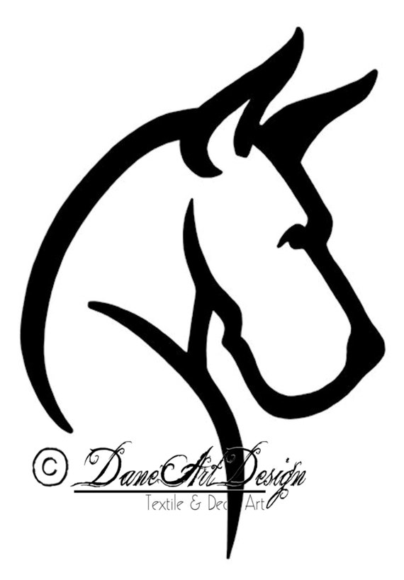 Great Dane clipart Great Dane With Decal Design
