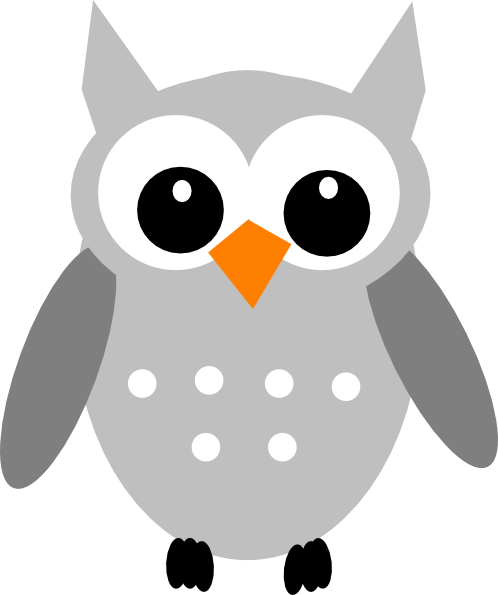 Great Gray Owl clipart Art Grey Clker Download image