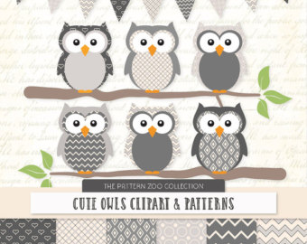 Mint clipart owl Owls Papers Baby Patterned Clipart