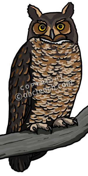 Great Horned Owl clipart Great art Great clip Clipart