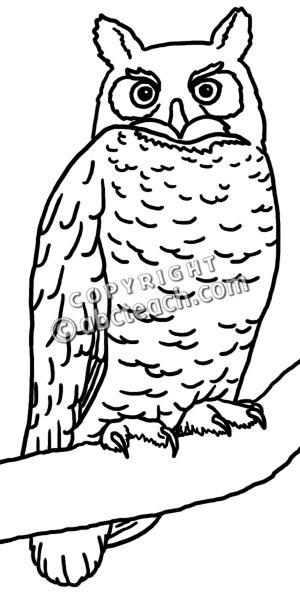Great Horned Owl clipart Horned Clip Great Owl White