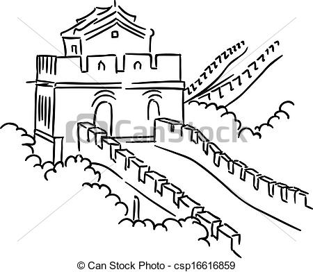 Great Wall Of China clipart Great Great Watercolor Great Chinese