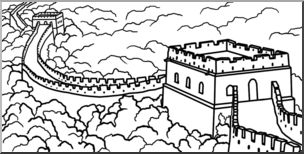 Great Wall Of China clipart Clip I Art: Wall abcteach