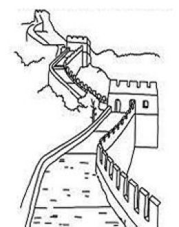 Great Wall Of China clipart Great Wall Of China Coloring Page Best on National Coloring Tourist