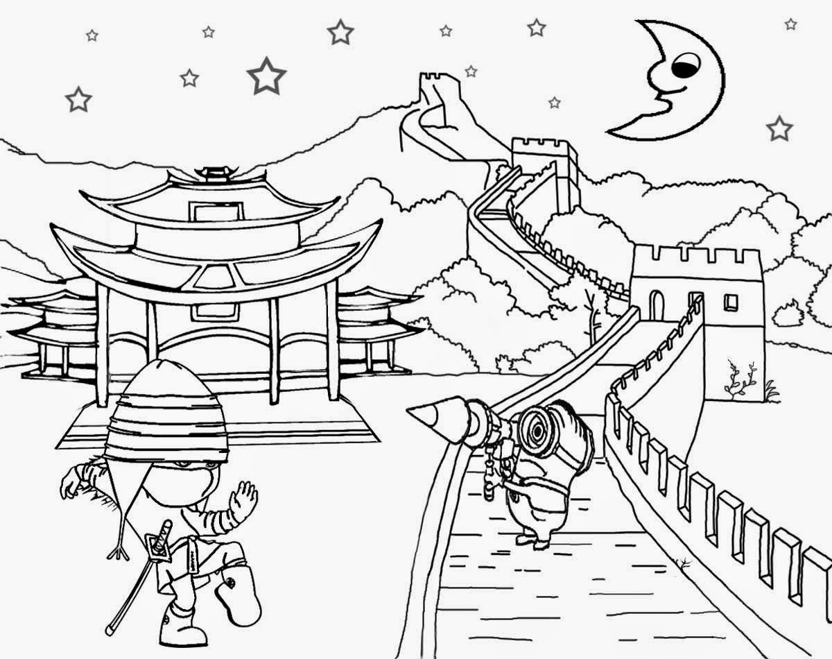Great Wall Of China clipart Great Wall Of China Coloring Page Coloring Coloring For Wall Download