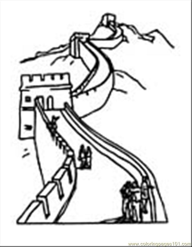 Great Wall Of China clipart Great Wall Of China Coloring Page China page worldwonders of china